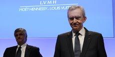 Bernard Arnault, patron de LVMH, en compagnie de Antonio Belloni, en février 2011.