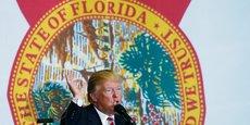 Donald Trump en discours à Pensacola, en Floride, Etat décisif pour son élection.