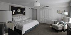 Une chambre du Meridien Bristol de Varsovie, en Pologne, hôtel appartenant au même groupe que le Meridien Etoile.