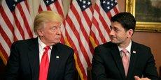 Donald Trump en compagnie de Paul Ryan, président de la Chambre des représentants