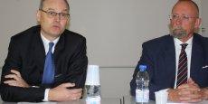 Bruno Gastinne (à gauche) est le nouveau président de la CCI de la Savoie.