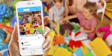 Klassroom, qui remplace le cahier de liaison classique, est une plateforme, disponible via une application, qui ressemble beaucoup à un Facebook de la relation parents-profs.