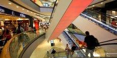 Un centre commercial à Francfort. L'Allemagne affiche une bonne croissance, mais...