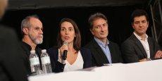 Table ronde du forum Smart City avec Carlos Moreno, expert Smart City, Mélanie Tisné-Versailles du Laboratoire des Usages, Bertrand Serp, vice-président de Toulouse Métropole et Fabrice Casciani d'EDF