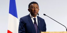Le président malgache Hery Rajaonarimampianina  lors d'un précédent déplacement à Paris, à l'occasion de la COP21, en novembre 2015.