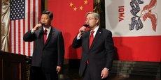 Le président chinois Xi Jinping connait Terry Branstad, l'actuel gouverneur de l'Iowa, depuis 1985.