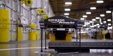 A terme, l'objectif pour Amazon est d'utiliser ses engins pour livrer des paquets en 30 minutes.