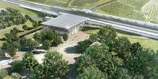Vue d'artiste de la future gare TGV de Manduel, près de Nîmes