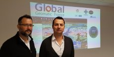Dirigeant la start-up nîmoise Global Geomatic France, David Lhomme et son associé Olivier Samat