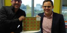 Cyril Bertschy et Eric Labarre pilotent la startup installée à Nice. Leur technologie - qui se matérialise sous forme de plaques - part à la conquête des marchés américains et chinois notamment.