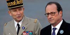 Pierre de Villiers au côté de François Hollande, le 11 novembre dernier.