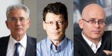 De gauche à droité Philippe Kourilsky, biologiste ; Laurent Alexandre, chirurgien-urologue et Serge Guérin, sociologue.