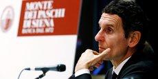 Le Pdg de Monte dei Paschi Marco Morelli lors d'une conférence de presse, le 25 otcobre.