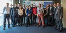 Les nominés de Nantes et de sa région lors de la sélection du Prix La Tribune Jeune Entrepreneur, à Nantes, le 17 janvier 2017.