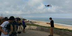 Le drone sauveteur Helper, testé cet été sur la plage de Biscarrosse dans les Landes, fait l'objet de nouveaux développements.