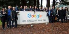 En vue de son projet pour voitures autonomes dans les P.-O., la délégation catalane formée pour le CES s'est aussi rendue sur le campus Google