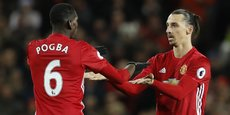 Manchester United, le club de Paul Pogba et de Zlatan Ibrahimovic (photo), revient à la première place.