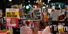 Plusieurs manifestations ont été organisées lundi 30 janvier, notamment à Londres (photo), contre la visite officielle de Donald Trump au Royaume-Uni prévue dans l'année.