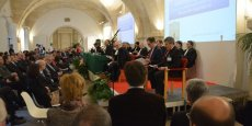 Pendant l'audience solennelle de la CRC de Nouvelle-Aquitaine