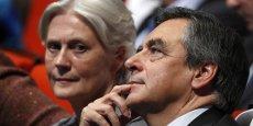 Pénélope Fillon et son mari à un meeting des Républicains en novembre 2016.