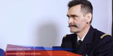 Le Général Serge Soulet, commandant des Forces aériennes, interviewé lors de la remise des Talents aquitains de l'aéronautique et de l'espace