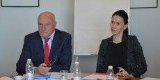 Alain Rousset, président de Région et Andréa Brouille, vice-présidente déléguée aux finances et au budget.