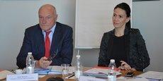 Alain Rousset, président de Région, et Andréa Brouille, rapporteure générale du budget devenue ce lundi vice-présidente en charge des finances et du budget, présentent les grandes lignes d'un budget stable.