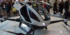 Le drone Ehang 184 au salon CES de Las Vegas en 2016.