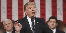 Premier discours de Donald Trump face au Congrès mardi 28 février 2017.