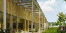 Le groupe scolaire Nelson Mandela, à Juvignac, entièrement en construction bois, sera livré en avril 2017.