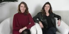 Livia Gonzalves et Julie Dolon, fondatrices de Winefing, dans les locaux de l'Auberge numérique, à Bordeaux.