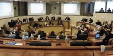 Le Conseil départemental de la Gironde avant le vote de la motion sur le revenu de base hier lundi.