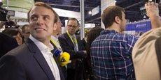 Le ministre de l'Economie Emmanuel Macron à Las Vegas, lors du Consumer electronic show en janvier 2016