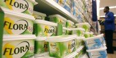 La margarine Flora ferait partie des marques qu'Unilever envisagerait de vendre.