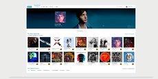 Qobuz vu sur MacOS.
