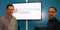 Christophe Poulain, président de WorldCast Connect (à gauche), et Nicolas Boulay, président de WorldCast Systems.