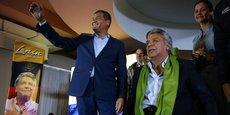 Vice-président de Rafael Correa (à gauche) de 2007 à 2013, Lenin Moreno (à droite) entend porter l'héritage socialiste de ces dix dernières années.