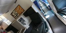 Intérieur cabine d'un Airbus pour Cathay Airways