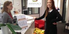 La plate-forme d'e-conciergerie créée par Amaplace couvre plusieurs services, comme la livraison de fruits