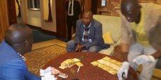Le ministre ougandais du Travail, de l'Emploi et des Relations salariales, Herbert Kabafunzaki, le jour de son arrestation.