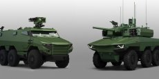 Les véhicules blindés Griffon et Jaguar produits par Nexter.