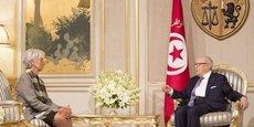 Rencontre à Tunis, le 8 septembre 2015, entre la présidente du FMI, Christine Lagarde, et Beji Caid Essebsi, le président de la Tunisie.