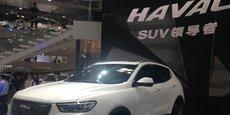 La marque Haval, du groupe Great Wall, est le premier fabricant de SUV en Chine.