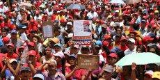 Des partisans de Nicolas Maduro ont renouvelé leur soutien au président lors des manifestations organisées par l'opposition mercredi 19 avril.