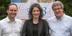De gauche à droite : Sylvain Huin, Céline Favy-Huin et Pascal Garrin