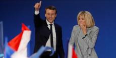 Emmanuel Macron et son épouse Brigitte.