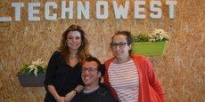 Marina Désiré, Jonathan Dupire et Jessica Amrane-Delafosse ont rejoint la pépinière Newton de Bordeaux Technowest il y a quelques semaines.