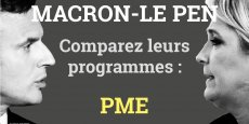 Il reste deux semaines à Emmanuel Macron et à Marine Le Pen pour convaincre les chefs d'entreprises.