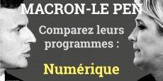 Le vote du dimanche 7 mai entre Emmanuel Macron et Marine Le Pen sera lourd de conséquences tant leurs programmes divergent, tant dans le rapport des deux finalistes au numérique que dans leurs propositions.