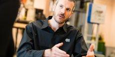 Thibaut Guichard, le nouveau directeur de la verrerie O.I. de Béziers.